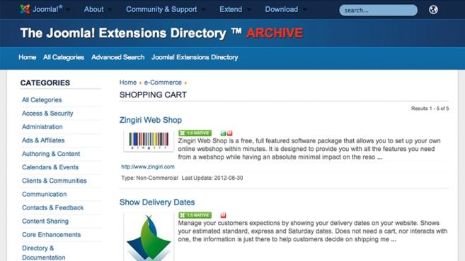 extensions joomla 1.5